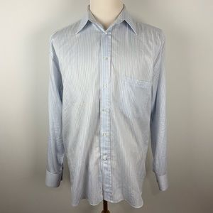 Canali Italy cotton stripe button up shirt 16.5-42
